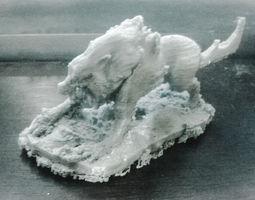 3d print model  wolf  monster