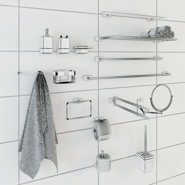Bathroom Accessories 3d Model bathroom accessories 3d | cgtrader