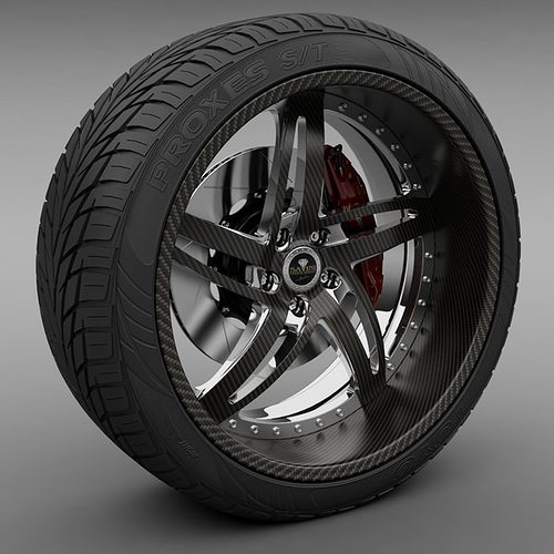 savini forged sv-16 wheel and tire 3d model max obj mtl 3ds lwo lw lws 1