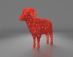 Sheep Wireframe 3D print model