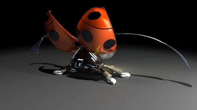 ladybug robot 3d model rigged fbx 1