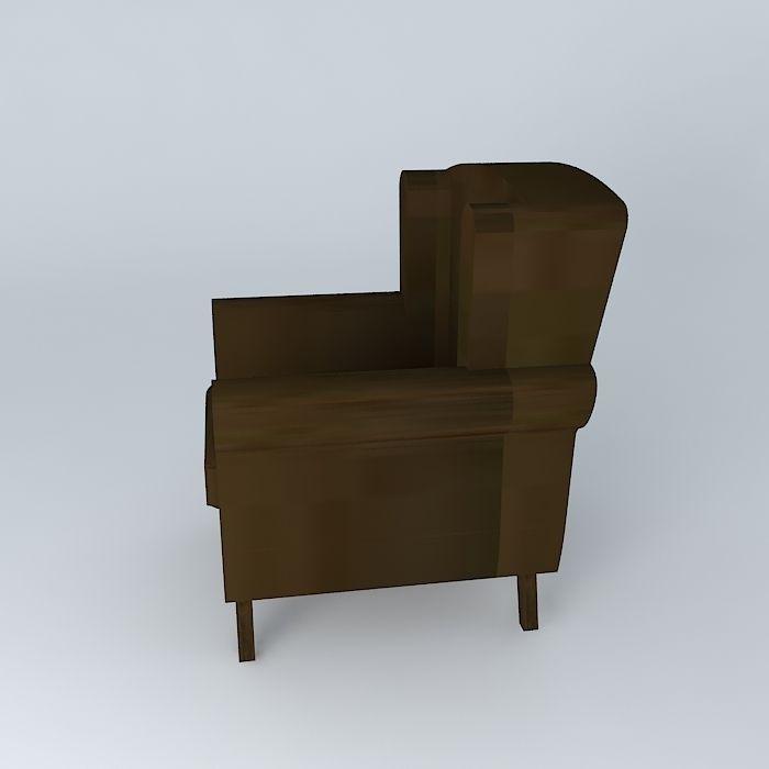 ... Armchair Purple Velvet Velvet Child Houses The World 3d Model Max Obj  3ds Fbx Stl Dae ...