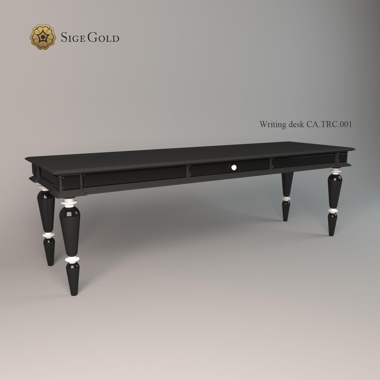 Writing Desk Sige Gold 3d Model Max Obj 3ds Fbx