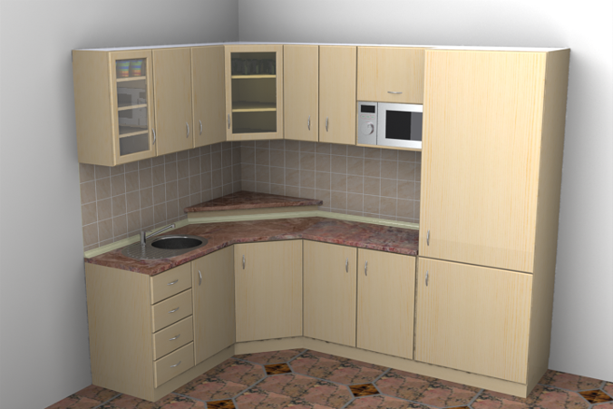 Kitchen architectural 3D model | CGTrader