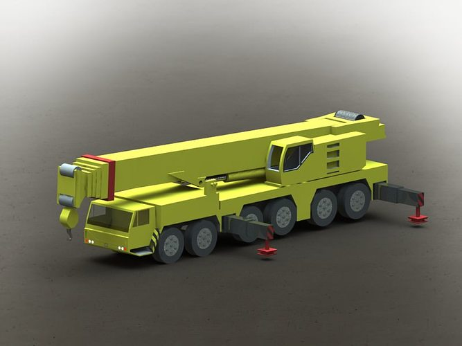 Mobile Crane Revit Family : Liebherr mobile crane ltm d model cgtrader