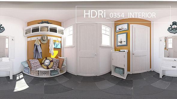 Interior Hdri 0354 3d Model