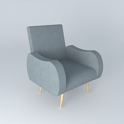 Armchair gray waves maisons du monde 3d cgtrader for Maison du monde waves metz