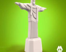 christ the redeemer - brazil 3d printable model