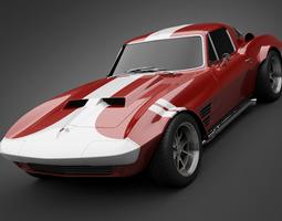 3D 1965 GrandSport Corvette Sports Car