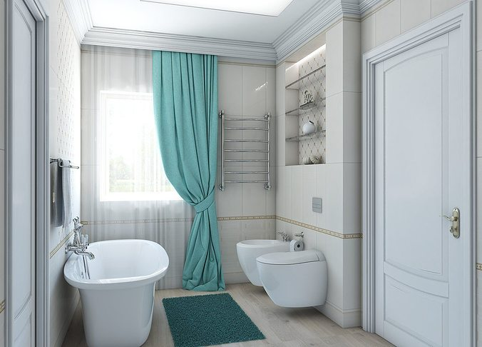 3d Model Soft Classic Style Bathroom Cgtrader