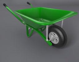 wheelbarrow 3d model obj 3ds fbx c4d