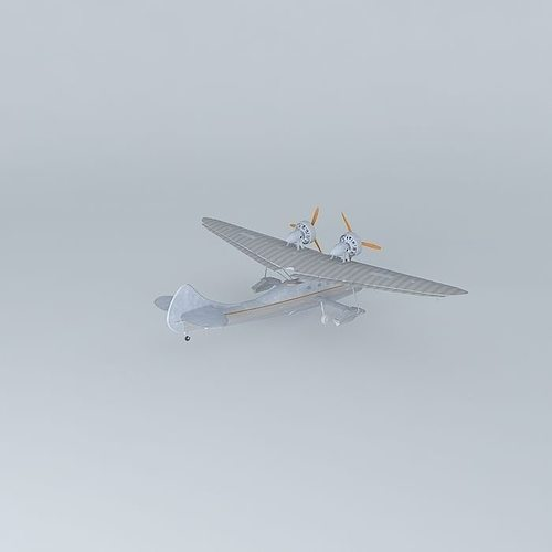 Argo aircrafts a2 silver swan 3d model cgtrader for Argo swan 8000