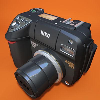 nikon coolpix 8400 3d model obj 3ds fbx c4d 1