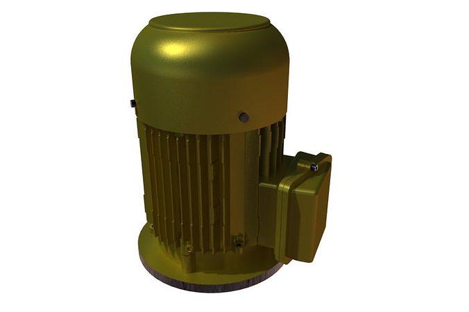 220v ac motor-flange mount 3d model stl rfa rvt 1