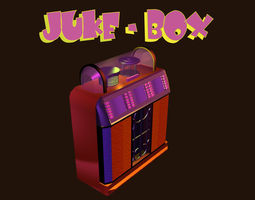 low poly jukebox 3d asset VR / AR ready