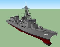 JMSDF Takanami Class Destroyer DD-110 3D