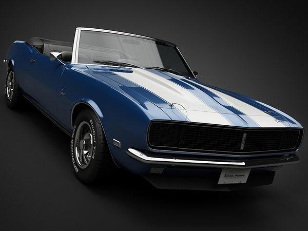 1968 chevrolet camaro rs convertible 3d model max obj mtl 3ds fbx lwo lw lws 1