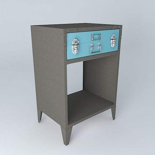 space undue gray bedside houses the world 3d model max obj mtl 3ds fbx stl dae 1