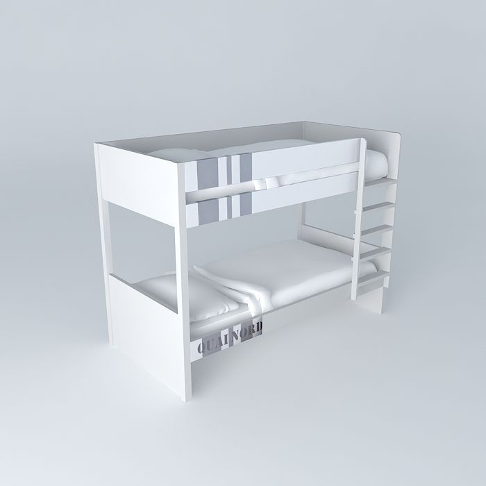 Bunk bed white child NORTH DOCK houses the world