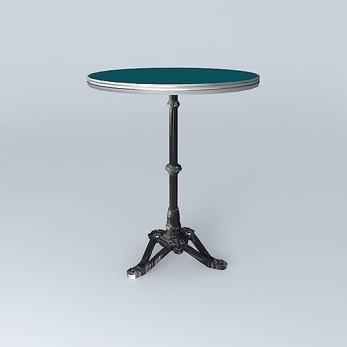 Roundtable bistro table ronde ardamez company 3d cgtrader for Table 7 bistro