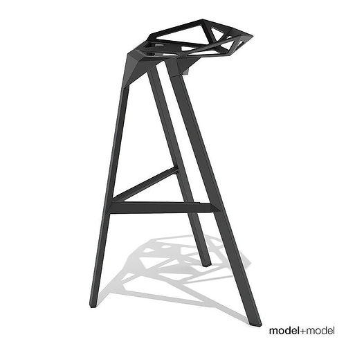Magis Stool One 3d Model Cgtrader