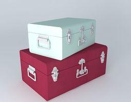 2 Pinkplanet trunks houses the world 3D model
