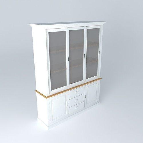 bahut leandre maisons du monde 3d cgtrader. Black Bedroom Furniture Sets. Home Design Ideas