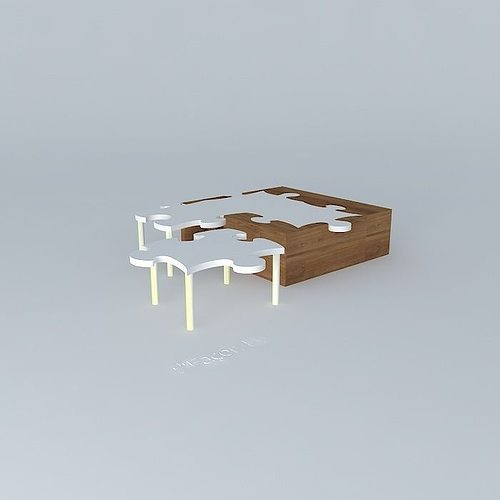 Quot Puzzle Coffee Table So Quot For Those Who Understand 3d Model Max Obj 3ds Fbx Stl Dae