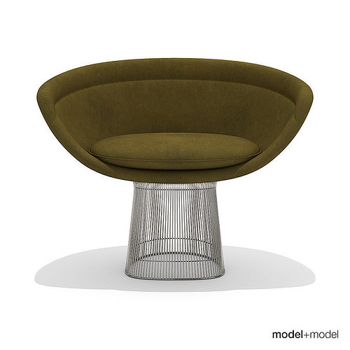 Platner Chair knoll platner lounge chair 3d | cgtrader