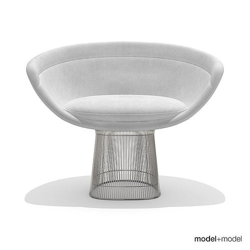 ... Knoll Platner Lounge Chair 3d Model Max Obj 3ds Fbx Dxf Mat 5 ...