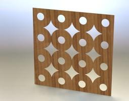 3D Wooden wall tile