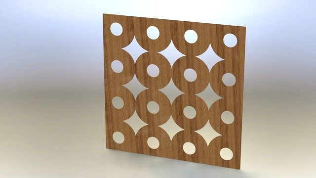 wooden wall tile 3d model stl rfa rvt 1
