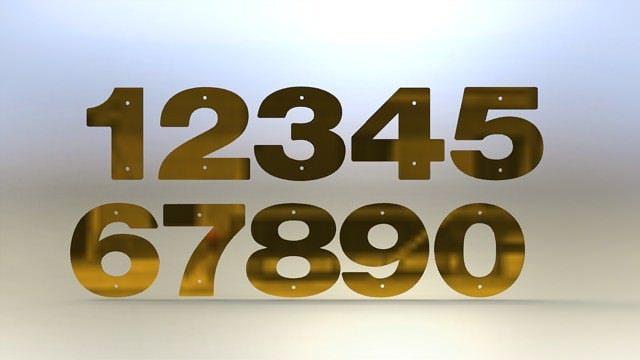 brass numbers asm 3d model stl rfa rvt 1