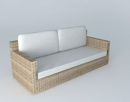 3D model Sofa ecru ST RAPHAEL houses the world