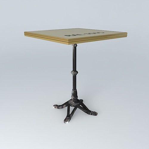 Bistro Table Square Ardamez Company 3d Model Max Obj 3ds Fbx Stl Dae 1 ...
