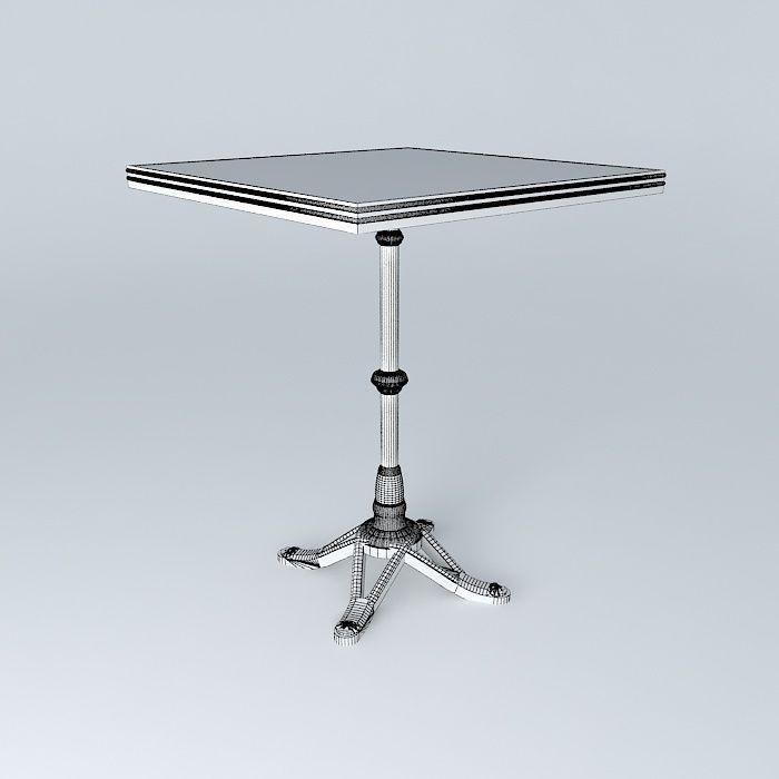 ... Bistro Table Square Ardamez Company 3d Model Max Obj 3ds Fbx Stl Dae 5