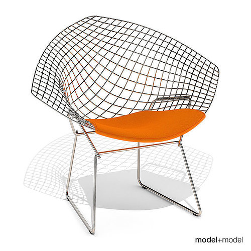 knoll bertoia diamond chair 3d cgtrader. Black Bedroom Furniture Sets. Home Design Ideas