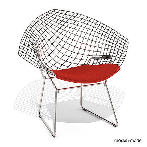 ... Knoll Bertoia Diamond Chair 3d Model Max Obj 3ds Fbx Dxf Mat 2 ...