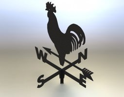 Weather cock asm 3D Model