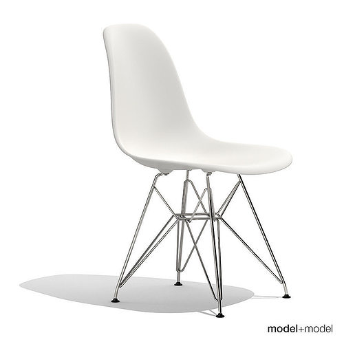 ... Eames Plastic Side Chair Dsr 3d Model Max Obj 3ds Fbx Dxf Mat 2 ...