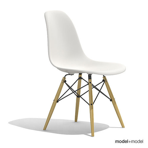 3d eames plastic side chair dsw cgtrader. Black Bedroom Furniture Sets. Home Design Ideas