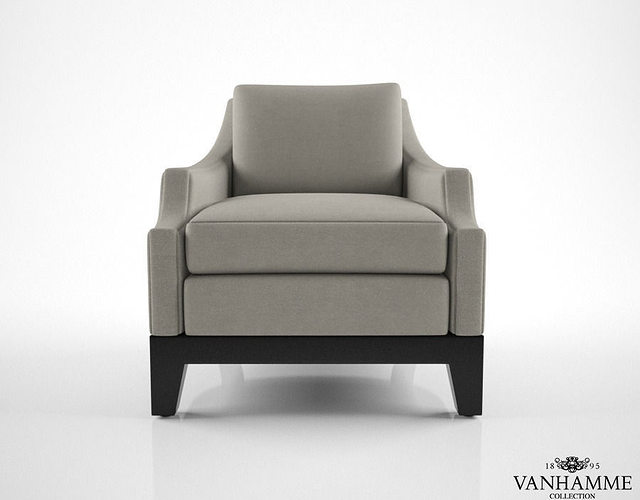 Vanhamme cosy armchair 3d model max obj fbx mtl for Cosy armchair