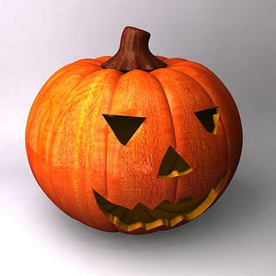 pumpkin 3d model obj 3ds fbx c4d 1