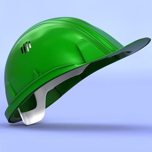 construction helmet 3d model obj 3ds fbx c4d 1