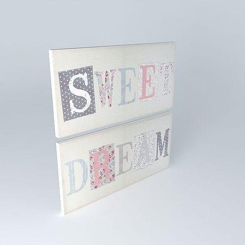 set 2 sweet dream paintings houses the world 3d model max obj 3ds fbx stl dae 1