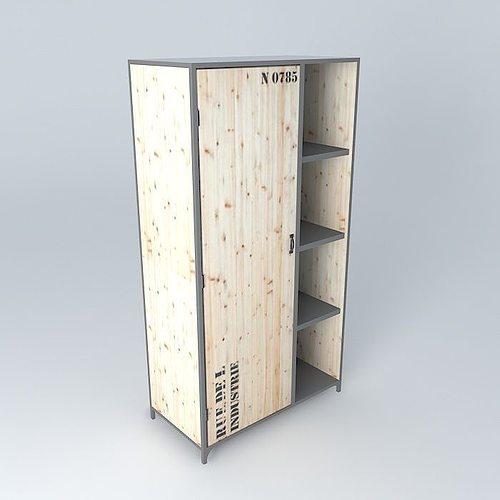 3d model dressing docks maisons du monde cgtrader. Black Bedroom Furniture Sets. Home Design Ideas