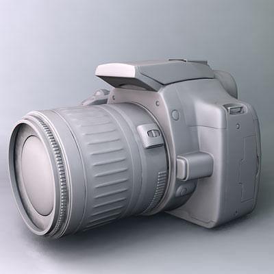 canon eos 350d rebel xt 3d model obj 3ds fbx c4d flt 1