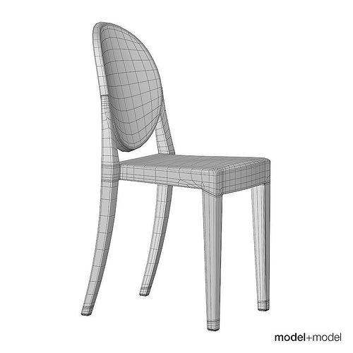Perfect Kartell Victoria Ghost Chair 3d Model Max Obj 3ds Fbx Dxf Mat 11