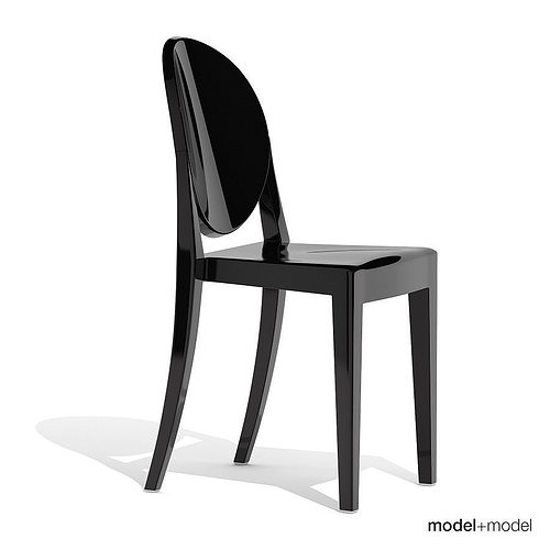 ... Kartell Victoria Ghost Chair 3d Model Max Obj 3ds Fbx Dxf Mat 6 ...