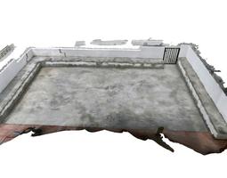 concrete terrace  game-ready 3d asset